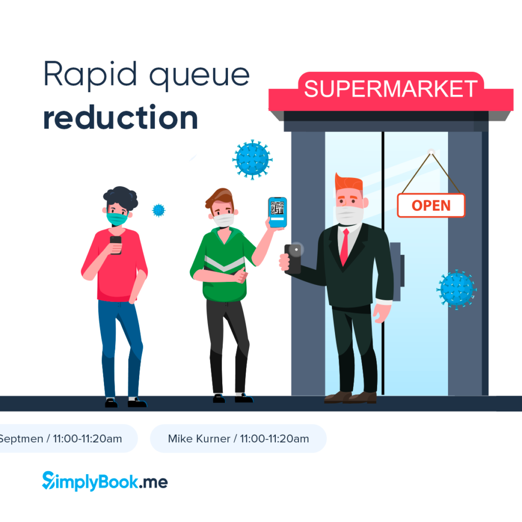 reduce queues with a multi-attendance booking system