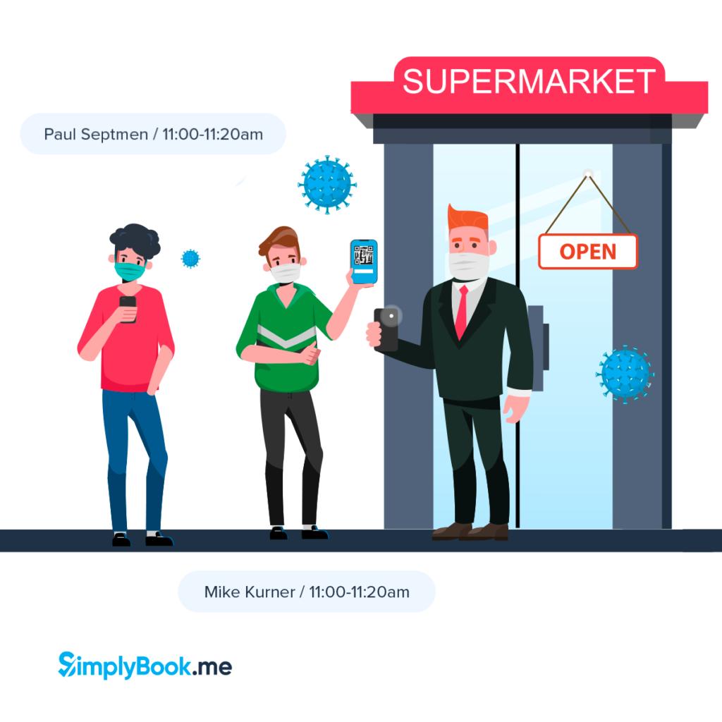 April Supermarket booking