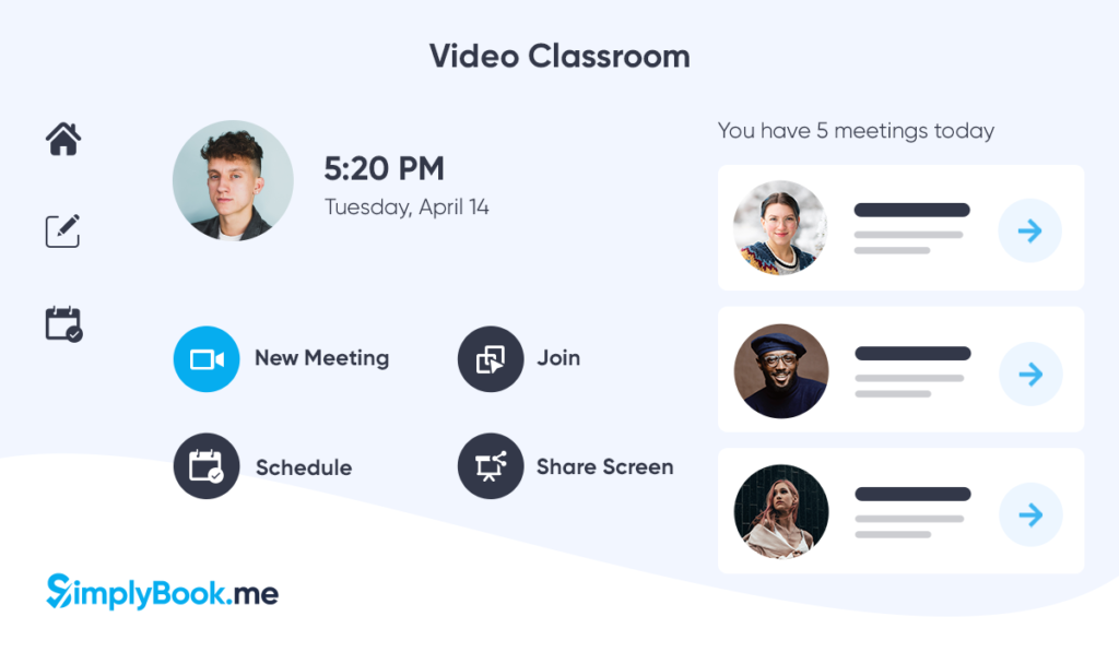 teaching online, video classrooms