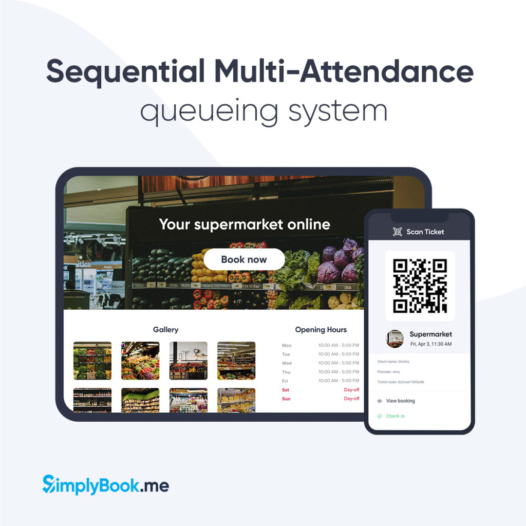 Sequential multi-attendance booking