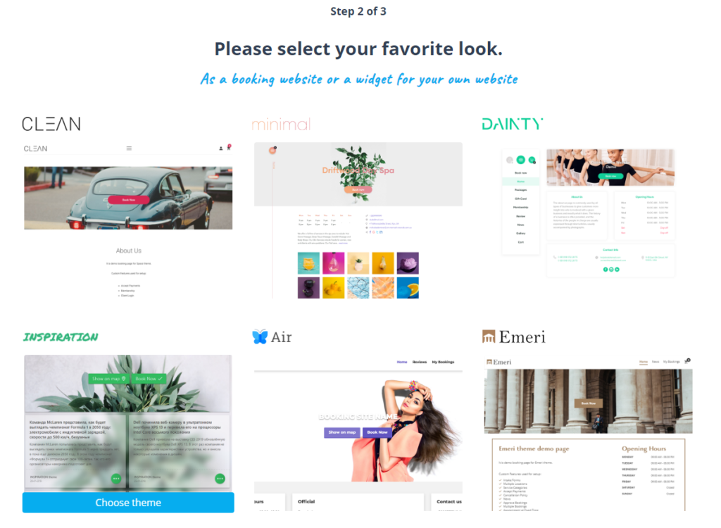 How to get started - choose a theme template