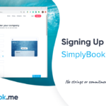 Signing up with SimplyBook.me