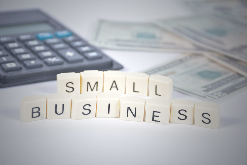 Small businesses in Scrabble tiles