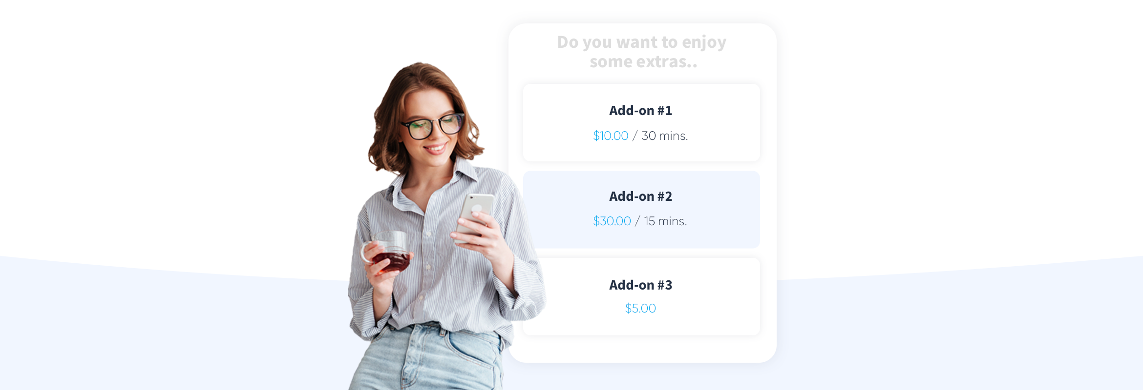 Service Add-ons for improved customer experience