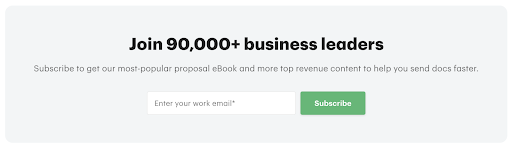 opt-ins with a sign up box in your footer