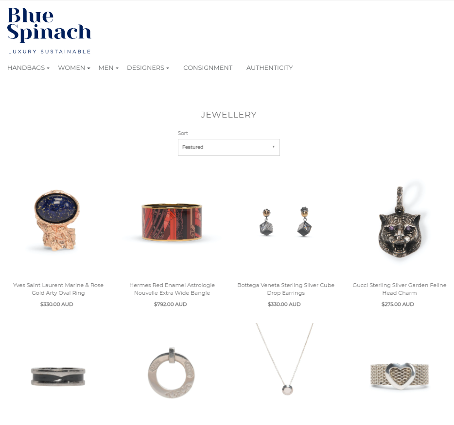 eCommerce for Blue Spinach